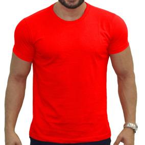 Camiseta Masculina Amarela Lisa Blusas Para Sublimação