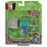 Figura Accion Zombie Minecraft Overworld Accesorios Nuevo