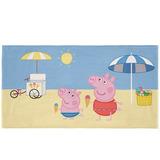 Toalha Aveludada Transfer Peppa Pig Praia 75x140 Lepper
