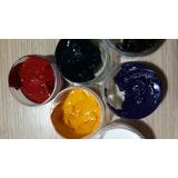 Pastas Colorantes Resina Primarios Pack X 5 Unidades