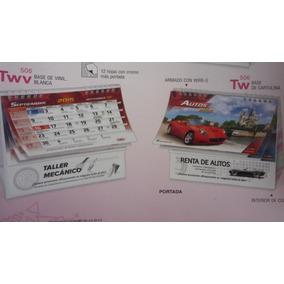 Mayoreo Calendario Escritorio Base Carton Con Tu Logo 1len