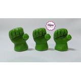 Frete R$10,00 30 Apliques Biscuit Punho Mão Hulk Vingadores
