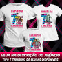 3 Camisetas Monster High Camisas Aniversário Festa Tematica