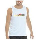 Camiseta Regata Branca 100% Algodão - Cacshop