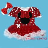 Vestido Fantasia Minie Mouse Importado Bebê Pronta Entrega!