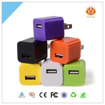 Cubo Cargador Usb Colores Pared Iphone Ipod Tablet Celular