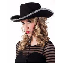 Sombrero Vaquero Con Ribete Cowboy Cotillón Carioca Pack X20
