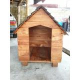 Casa De Madera Para Perro-mediana 80cmx80cm Impermeabilizada