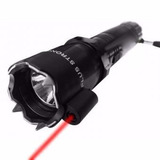Chicharra Paralizador Lampara Led Laser Taser Recargable
