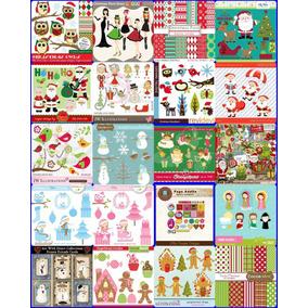 Scrapbook Digital Natal 02 - 20 Kits Frete Gratis