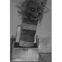 Palhaço Fantasma Caixa Susto Bruxa Led Halloween Bozo Do Mal