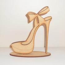 Zapato Souvenirs En Fibrofacil - 15 Años - Sin Pintar