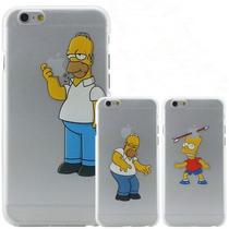 Remate Case Homero Simpson Iphone 4, 5 5s 6 6s 6plus 6splus