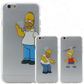 Remate Case Homero Simpson Iphone 4, 5 5s 6 6s 6plus 6splus