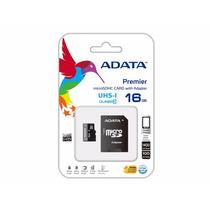 Memoria Micro Sd Hc Adata 16gb Cl10 Con Adaptador Sd