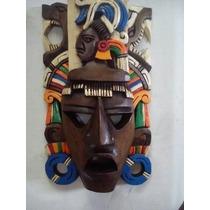 Mascaras Mayas De Madera Calidad Premium Envio Gratis!!