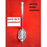 Perchas Ganchos Doble Aluminio Pack X6