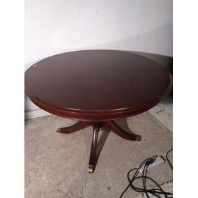 Mesa redonda pata central antigua muebles antiguos en for Mesa comedor pata central