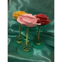 Rosas En Foami Son Bolígrafos!!!!