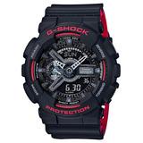 Relógio Casio G-shock Ga-110hr-1a Preto Vermelho