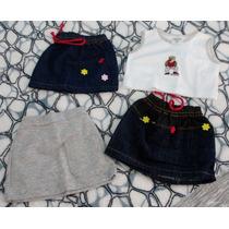 Lote Infantil Com 1 Conjunto + 2 Saias Jeans Tam. 2 S-13