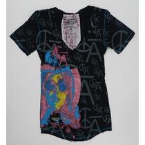Camiseta Feminina C Bar A By Christian Audigier - Tam Pp
