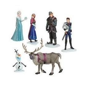Kit Frozen 6 Bonecos Em Pvc 11cm Pronta Entrega Frete Grátis
