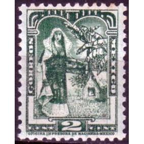 1515 México Vestido Tehuano Sin Filigrana 2c Mint Nh 1934-40