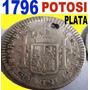 Potosi-1 Real-plata-carolus Iiii-1796 Pp- Rara