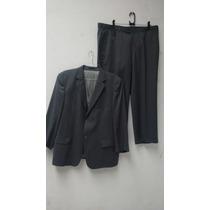 Terno Size Suit Makers Lã Fria Risca Giz S 120
