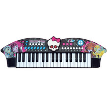Teclado Piano Musical Infantil Sons Skull Bat Monster High