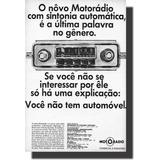 Quadro Decorativo De Propaganda Antiga De Radio