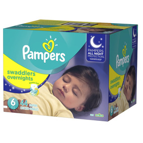 Pampers Swaddlers Overnight Etapa 6 - 44 Pañales