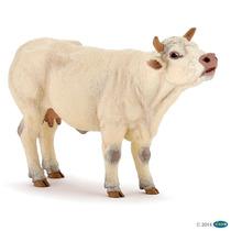 Vaca Charolais Papo Animales Colección Pintado A Mano