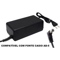 Fonte Para Casio Ctk 210 / Ctk 731 Bivolt Automatico