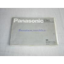 Manual Instruçoes Filmadora Vhs Nv-m8px Panasonic - Usado