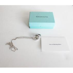 Collar 2 Anillos Entrelazados Usado Tiffany & Co Plata