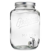 Original Mason Jar Dispensador De Bebidas 2.15 Galones 8 Lt