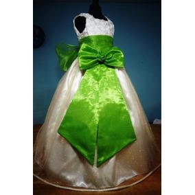Vestido De Paje Pajecita Para Niña Tipo Tutu Color Verde