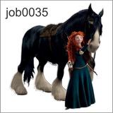 Adesivo Decorativo Valente Merida Disney Princesa Job0035