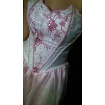 Vestido De 15 Años Blanco Con Rosa