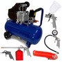 Compresor Aire 50 L 2.5 Hp Tbx Combo Kit Regalo Pintar