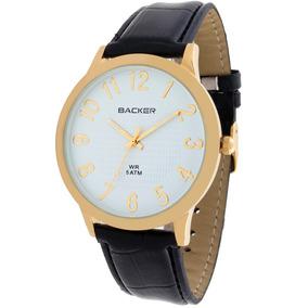 Relógio Masculino Backer 3516172m Br Bona Men Couro