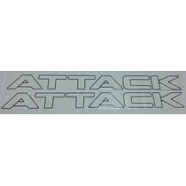 Faixa Lateral Adesivo Attack Frontier-preto, Branco Ou Prata