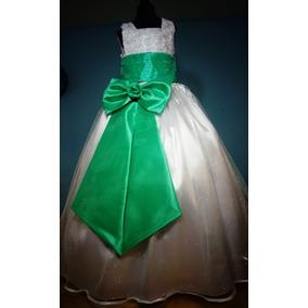 Vestido De Paje Pajecita Para Niña Tipo Tutu Color Menta
