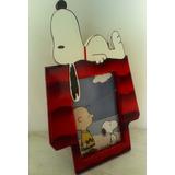 Porta Retratos De Snoopy.. Madera Mdf Pintado. Regalos