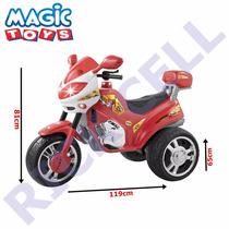 Moto Elétrica Infantil Super Moto Bombeiro Vermelho 12v - Ma