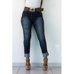 Calça Feminina Jeans Oppnus Skinny Cos Medio Bianca 231113