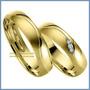 Argollas Matrimoniales Mod. Faith En Oro Amarillo 10k Solido