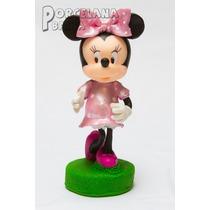 Minnie En Porcelana Fria - Adorno Para Torta 20 Cm